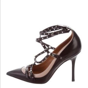 Valentino rockstud lovelatch black nude shoes 7